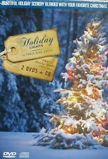 Holiday Lights Christmas NEW 2 DVD & CD, Music,Christmas Trees,Lights,HD,Festive