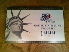 1999-S Proof Set Original  Box & COA 9 Coins US Mint