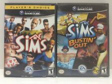 The Sims & The Sims Bustin' Out Nintendo Gamecube Games, Cases, Manuals Nice