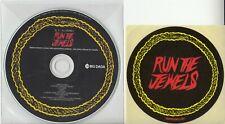 RUN THE JEWELS S/T 2013 UK 10-track promo CD + logo sticker