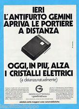 QUATTROR983-PUBBLICITA'/ADVERTISING-1983- GEMINI ELETTRONICA  (versione A)