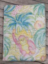 Vintage Dundee 92 Quilted Blanket Comforter Nursery Blanket Jungle Animals N51