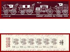 France 1988 carnet Journée du timbre, diligence montée ** MNH, BC2526A, non-plié