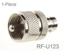 RF Industries RFU627  Mini-UHF Female to BNC Male Adapter **Free Shipping**