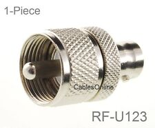 BNC Female to UHF PL259 Male Coaxial RF Adapter, CablesOnline RF-U123
