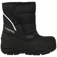Campri Infants Snow Boots Childrens Faux Fur Snowproof Hook and Loop Warm