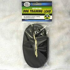 10 ft. dog lead training long line 5/8 webbed Black for sm/med dogs by Four Paws