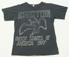 Anvil Short Sleeve Black & White Graphic Tee T-Shirt Top Small Led Zeppelin D14