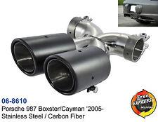 Auspuff Endrohre Carbon fur Porsche Boxster Cayman 987 '05 - Porsche 981 2012-