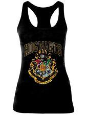 T-shirt Harry Potter - Hogwarts Old School Black (top Donna Tg. L)