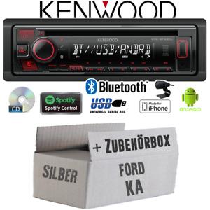 Kenwood Autoradio für Ford KA Bluetooth Spotify CD/MP3/USB Einbauzubehör/-set