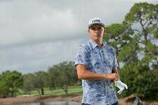PUMA Rickie Fowler Men's Aloha Woven Golf Shirt, Peacoat/Print, Medium