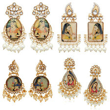 Jwellmart Indian Bollywood Gold Plated Padmavati Pearl Earrings Free Shipping
