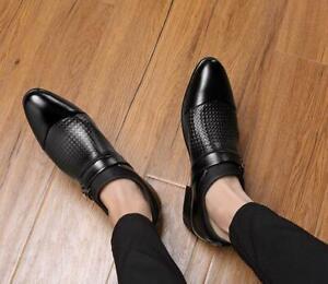 Men's Faux Leather Flat Shoes Business Dress Slip On Casual Oxfords Pumps Formal