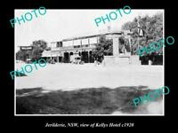 OLD POSTCARD SIZE PHOTO OF JERILDERIE NSW VIEW OF KELLYS HOTEL c1920