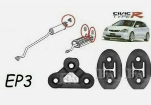 FOR HONDA CIVIC EP3 SET OF 3 EXHAUST PIPE HANGER MOUNT RUBBER TYPE R EP3