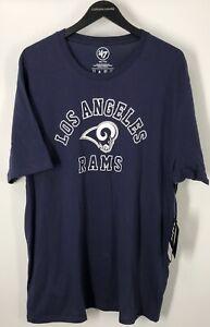 Los Angeles Rams Men's 47 Brand NFL Short Sleeve T-Shirt Navy Blue 2XL