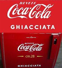 Sticker LOGO COCA COLA GHIACCIATA cm. 28 OLD FRIGE-VINTAGE FRIGO