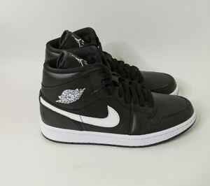 Nike Air Jordan 1 Mid Black White - Size 8 W/ 6.5 M BQ6472-011 - NEW