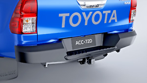 TOYOTA HILUX REAR BAR HEAVY DUTY STEEL NEW GENUINE AUG 15> SUITS UTILITY ONLY