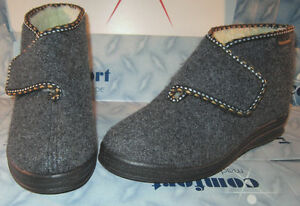 Slippers Warm Chalet Boots House Boots Slippers Robust 36-42 Touch Fastener Wool