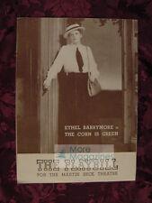 Playbill June 13 1943 THE CORN IS GREEN ETHEL BARRYMORE