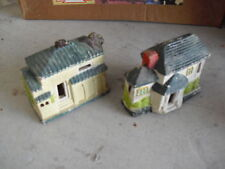 Lot of 2 Vintage Composition Japan Houses Look