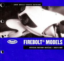 2006 BUELL FIREBOLT XB9R & XB12R MOTORCYCLE PARTS CATALOG MANUAL -FIREBOLT