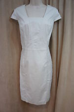 Marc New York Andrew Marc Dress Sz 8 Nimbus Beige Cap Sleeve Business Dress