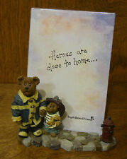 Boyds Bear Picture Frame Patrick and his hero When I grow up #27369 1E! Nwt!