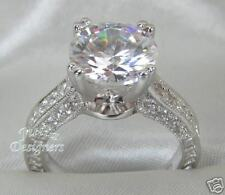 3.52ct Brilliant Cut  Engagement Ring, Size 6