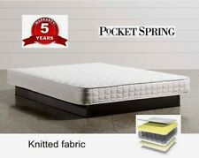 SINGLE FULL POCKET SPRING MATTRESS WITH HIGH DENSITY FOAM  KNITTED FABRIC - 21cm