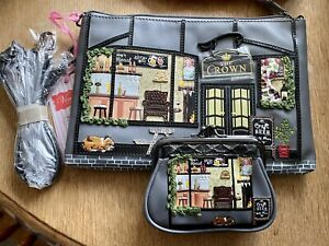 Vendula London Very Rare The Crown Pouch Bag And Matching Clip Coin Purse