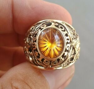 US Military Academy West Point Rings 1964  , Citrine Stones , Gold 10k