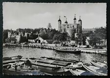 London / The Tower of London 1950's / Old ships / Postcard Black & White 2 x