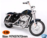 Maisto 1:18 Harley Davidson 2013 XL 1200V SEVENTY TWO MOTORCYCLE BIKE Model Blue