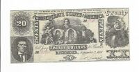 CSA 1861 T-20 $20 Beehive Confederate Currency Richmond  Plate #2 R3 1st series