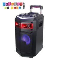 Go-Rock GR-B1-10 25W Altavoz Trolley con Función Karaoke y 2 Micrófonos Inalámbricos Incluidos