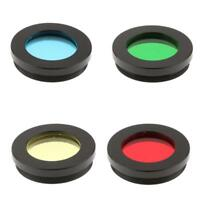 "Telescope Eyepiece Lens Color Filter Set 1.25"" Red Yellow Green Blue 4 in 1"