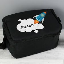 PERSONALISED Kids School Pack Lunch Bag - Boys Rocket Packed Lunch Dinner Box