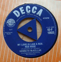 "Kenneth McKellar - My love is like a red, red rose / My ain folk 7"" Record -1955"