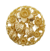 Celluloid Flowers Vintage Brooch 1940s Signed Occupied Japan