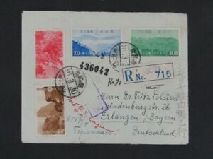 Nystamps Japan National Park stamp on cover German WW II Reich Censor Rare y2yd