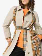 New Burberry Guiseley Inside-Out Check Women Trench Coat Authentic $2990 Sz10
