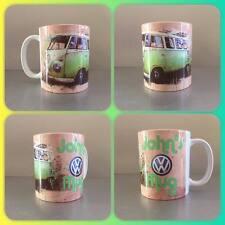 personalised mug vw volkswagen camper van car vintage retro campervan classic :)