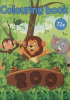 Colouring Book - Malbuch für Kinder - Zoo, Elefant, Nashorn, Affe und v. a. #235