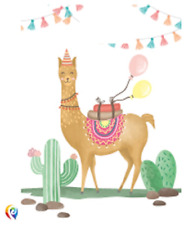 Party Llama Cactus Alpaca Cute Celebration Loot Bags (6)