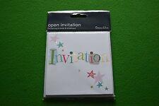 simon elvin open invitation 6 cards and envelopes