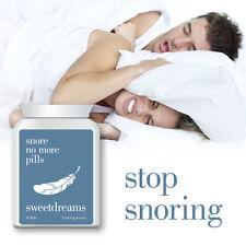 SWEET Dreams SNORE NO MORE Pillole -- Stop Russare ant-snore dormire bene