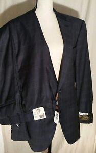 NWT Peter Millar Loro Piana Super 130's Flynn Wool Suit Navy 46R/40W $1325